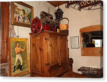 Nostalgic Corner In The Cellar Room At The Swiss Hotel In Sonoma California 5d24442 Canvas Print by Wingsdomain Art and Photography