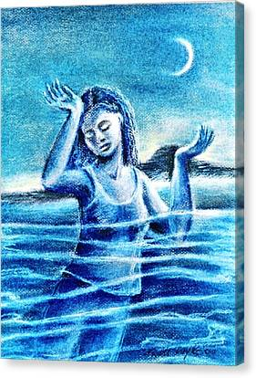 Not Waving But Drowning Canvas Print by Trudi Doyle
