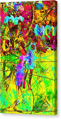 Nothing But Net The Jump Shot 20150310 Canvas Print by Wingsdomain Art and Photography