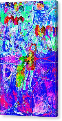 Nothing But Net The Jump Shot 20150310inv Canvas Print by Wingsdomain Art and Photography