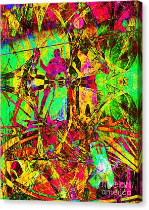 Nothing But Net The Tip Off 20150310 Canvas Print by Wingsdomain Art and Photography