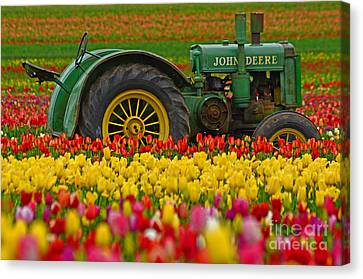 Nothing Runs Like A Deere Canvas Print by Nick  Boren