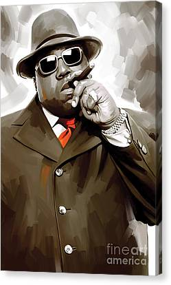 Notorious Big - Biggie Smalls Artwork 3 Canvas Print by Sheraz A