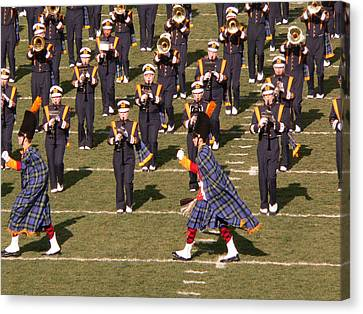 Notre Dame Band Canvas Print by David Bearden