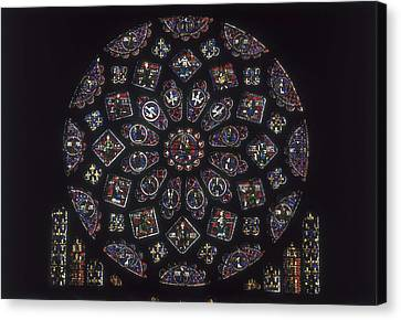 Notre-dame Cathedral Of Chartres Canvas Print by Everett