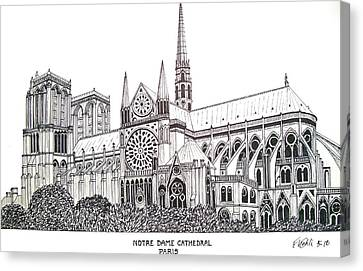 Notre Dame Cathedral - Paris Canvas Print by Frederic Kohli