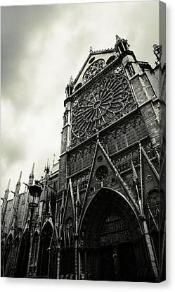Notre Dame De Paris Canvas Print by Cambion Art