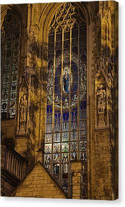 Notre Dame Du Sablon Canvas Print by Joan Carroll