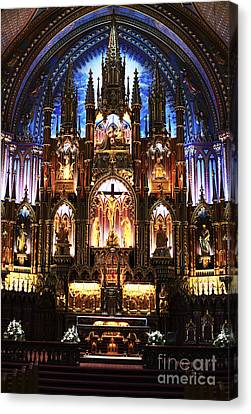 Notre Dame Interior Canvas Print by John Rizzuto