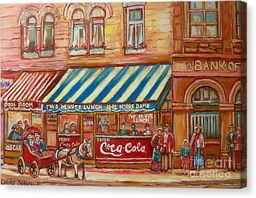 Notredame Circa 1940 Canvas Print by Carole Spandau