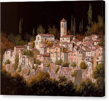 Notte Senza Luna Canvas Print by Guido Borelli