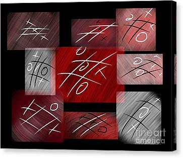 Noughts And Crosses Canvas Print by Rob Hawkins