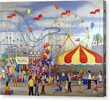 Novelties At The Carnival Canvas Print by Linda Mears