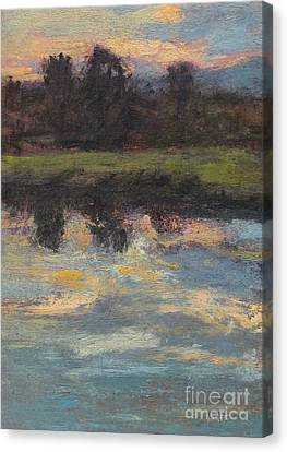 November Reflection - Hudson Valley Canvas Print by Gregory Arnett