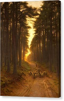 Now Came Still Evening On, Circa 1905 Canvas Print by Joseph Farquharson
