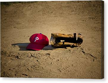 Now Pitching For The Phillies Canvas Print by Bill Cannon