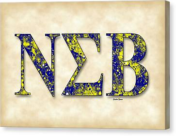 Nu Sigma Beta - Parchment Canvas Print by Stephen Younts