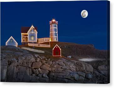 Nubble Light Cape Neddick Lighthouse Canvas Print by Susan Candelario