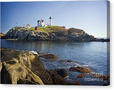 Nubble Light Canvas Print by Jim  Calarese