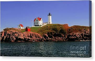 Nubble Lighthouse-cape Neddick Canvas Print by Kathleen Struckle