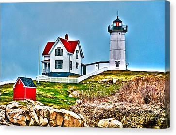 Nubble Lighthouse Cape Neddick Maine 2 Canvas Print by Glenn Gordon