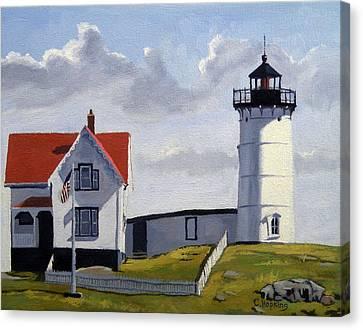 Nubble Lighthouse Maine Canvas Print by Christine Hopkins
