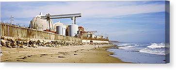 Nuclear Power Plant On The Beach, San Canvas Print by Panoramic Images