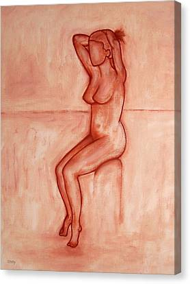 Nude 5 Canvas Print by Patrick J Murphy