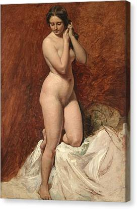Nude From The Front Canvas Print by William Etty