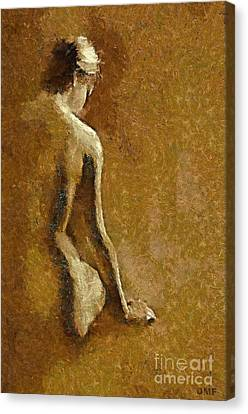 Nude In Sepia Canvas Print by Dragica  Micki Fortuna