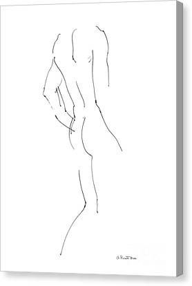 Nude Male Drawings 2 Canvas Print by Gordon Punt