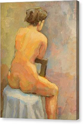 Nude Painting  4 Canvas Print by Alfons Niex