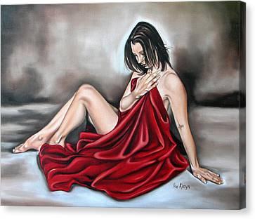 Nude Seventy Six Of Seven Canvas Print by Ilse Kleyn