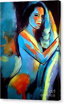 Nude Sexy Girl Canvas Print by Helena Wierzbicki