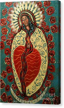 Nuestra Senora De Guadalupe Canvas Print by Maya Telford
