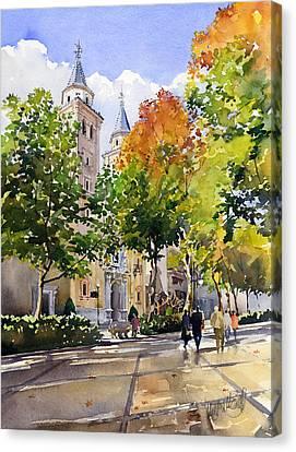 Nuestra Senora De Las Angustias Canvas Print by Margaret Merry