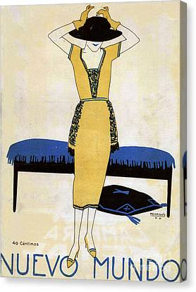 Nuevo Mundo  1920 1920s Spain Cc Womens Canvas Print by The Advertising Archives