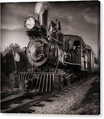 Number 4 Narrow Gauge Railroad Canvas Print by Bob Orsillo