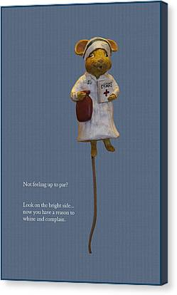Nurse Mouse Canvas Print by Sally Weigand
