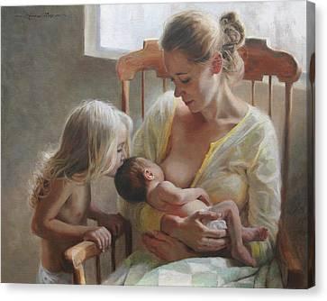 Nurturer Canvas Print by Anna Rose Bain