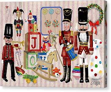 Nutcracker And Friends Canvas Print by Arline Wagner