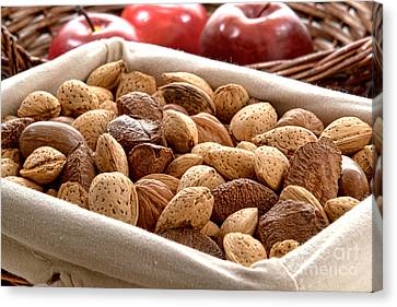 Nuts Canvas Print by Olivier Le Queinec