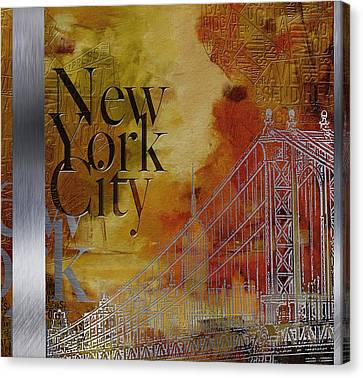 Ny City Collage - 6 Canvas Print by Corporate Art Task Force
