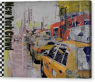 Ny City Collage 2 Canvas Print by Corporate Art Task Force