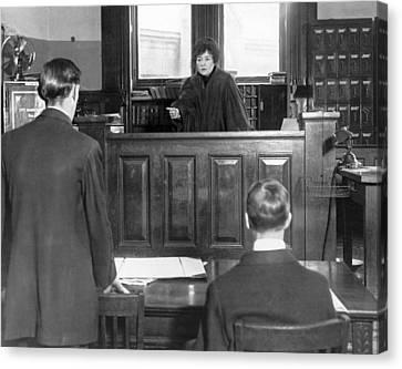 Ny Judge Carroll Mccomas Canvas Print by Underwood Archives