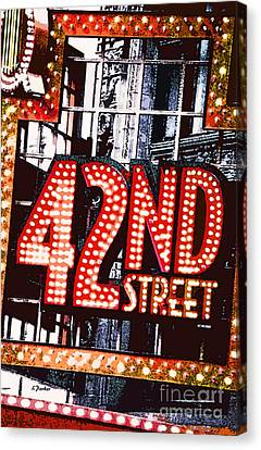 Nyc-broadway Lights Canvas Print by Linda  Parker