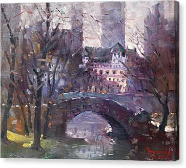 Nyc Central Park II Canvas Print by Ylli Haruni
