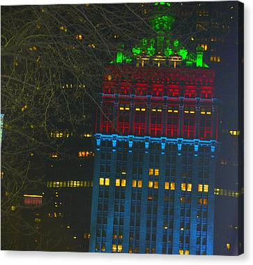 Nyc Christmas Time Canvas Print by Sue Rosen
