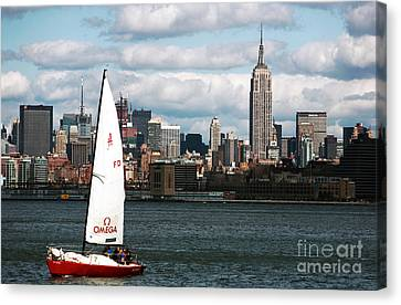 Nyc Harbor View Canvas Print by John Rizzuto