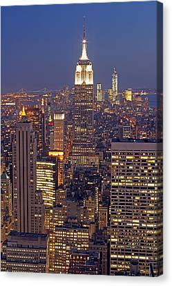 Nyc Midtown And Downtown Canvas Print by Juergen Roth